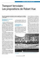 Transport ferroviaire : Les propositions de Robert Hue