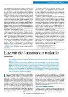 L'avenir de l'assurance maladie