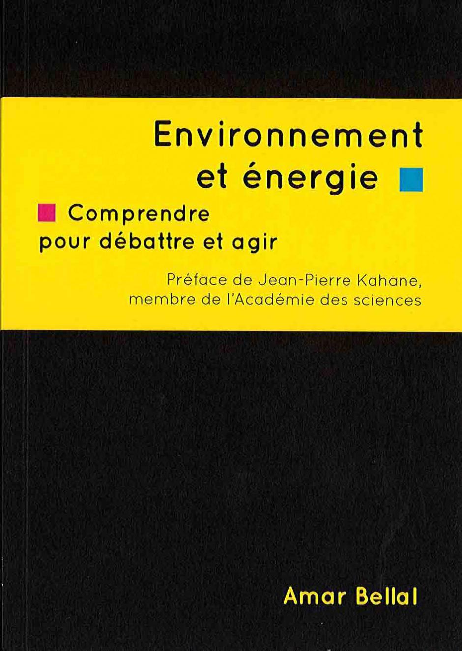 Environnement et énergie - Amar Bellal