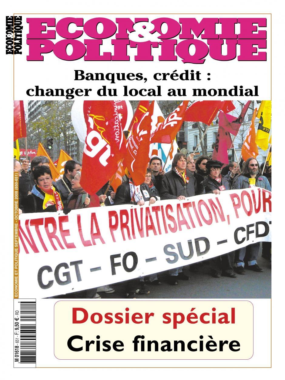 Economie & Politique de septembre octobre 2008