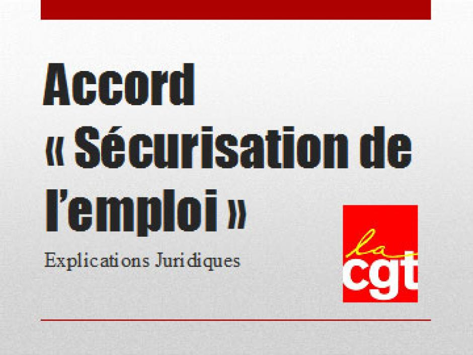Diaporama de la CGT sur l'accord 