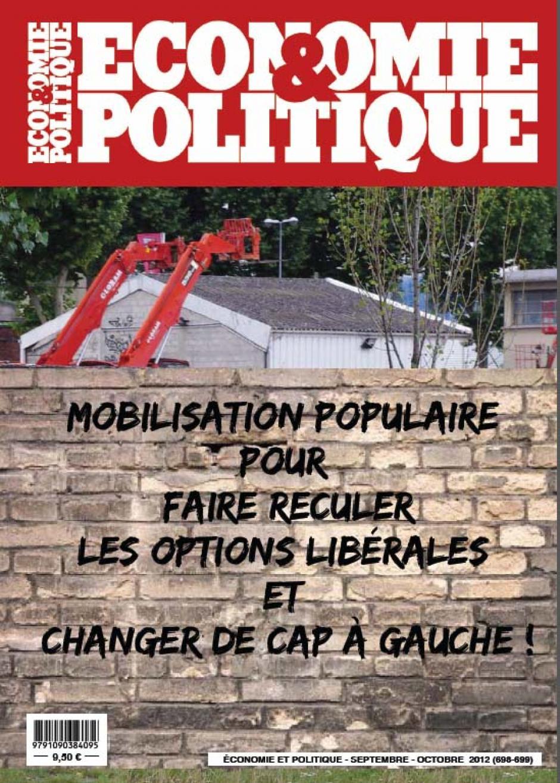 Economie & Politique - septembre-octobre 2012