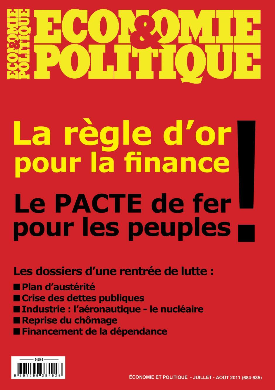 Economie & Politique de juillet-août 2011