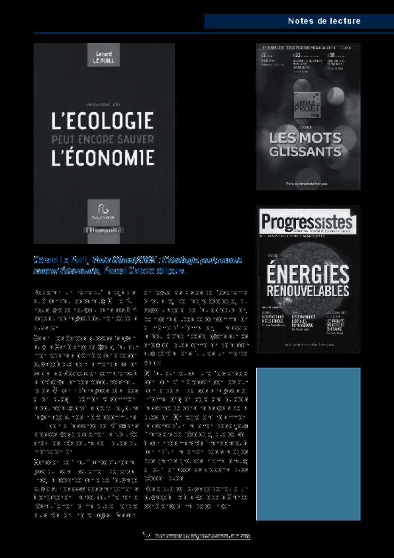 Gérard Le Puill, Paris Climat 2015 : L'écologie peut encore sauver l'économie, Pascal Galodé éditeurs.