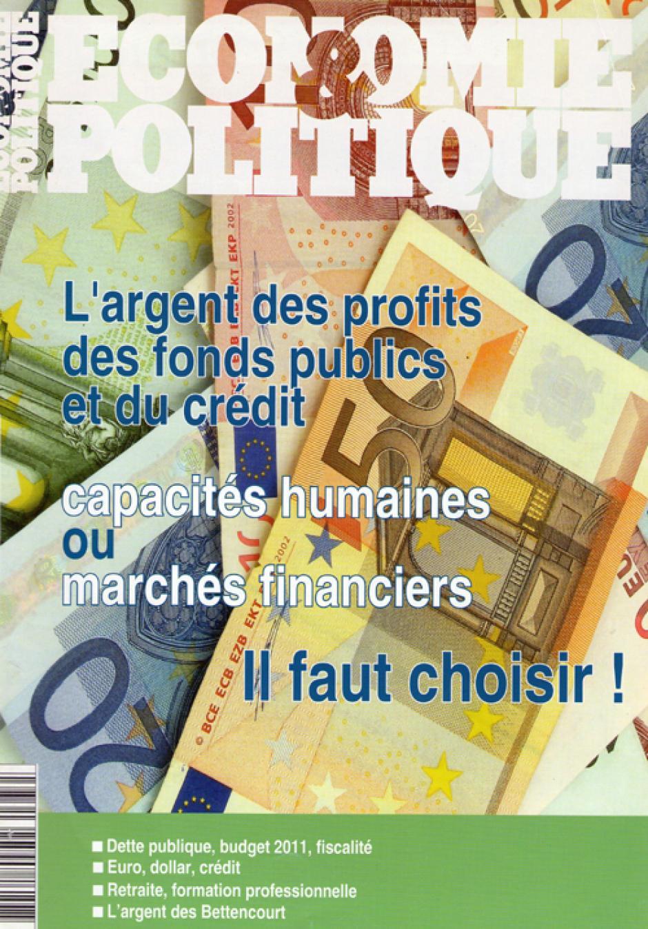 Economie & Politique de juillet-août 2010