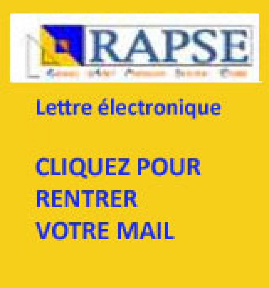 Abonnez-vous à la lettre électronique du RAPSE