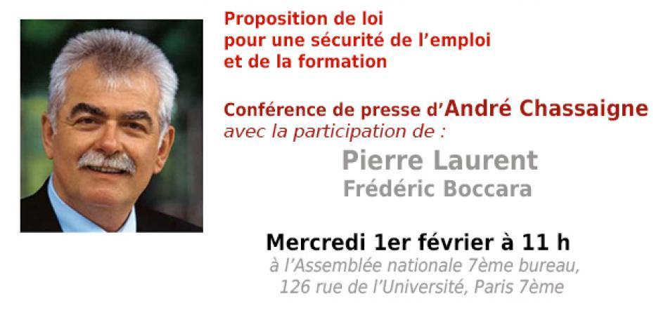 Conférence de presse d'André Chassaigne