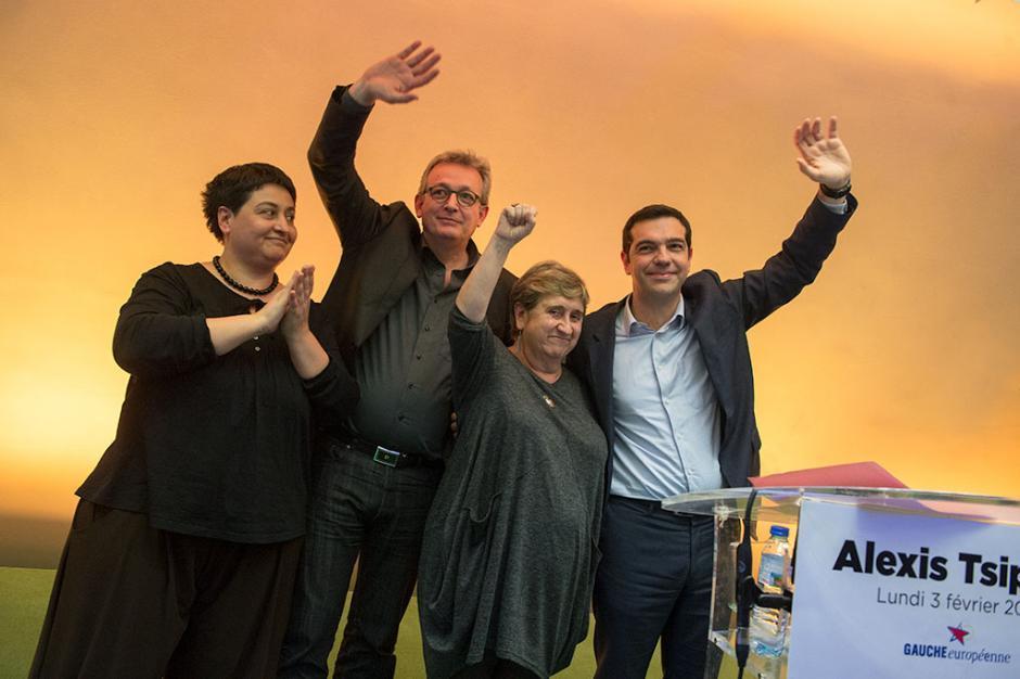 Rencontre avec Alexis Tsipras au siège du PCF